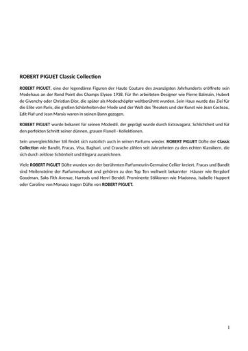Robert Piguet Markenbeschreibung