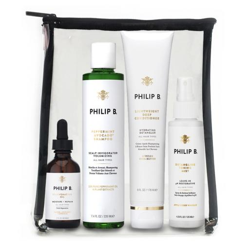 PHILIP B Four Step Hair and Scalp Treatment Kit Paraben Free