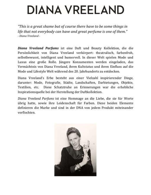 Diana Vreeland Parfums Duftbeschreibungen