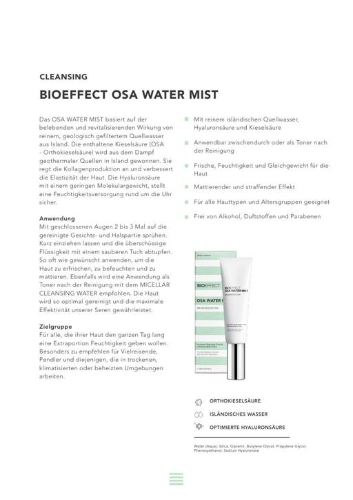 BIOEFFECT OSA WATER MIST TXT