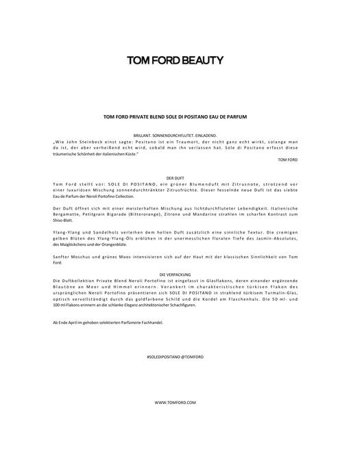 TOM FORD SOLE DI POSITANO TXT
