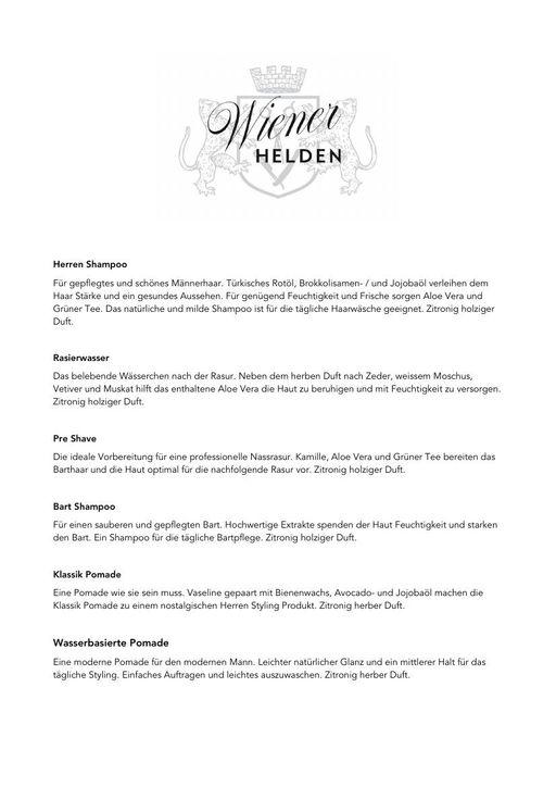 Wiener Helden Produktbeschreibung