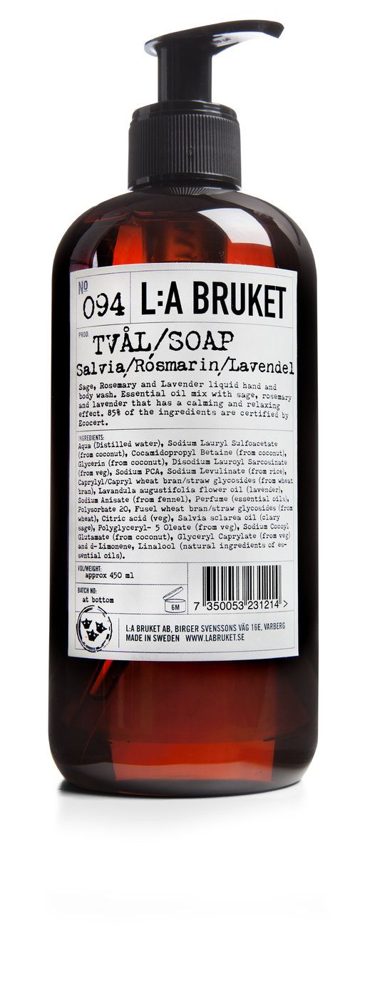 La Bruket Liquid Soap Sage Rosemary Lavender