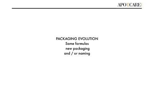 APOTCARE Packaging Evolution