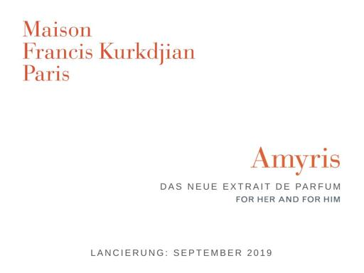 Maison Francis Kurkdjian Amyris Extrait de parfum TXT