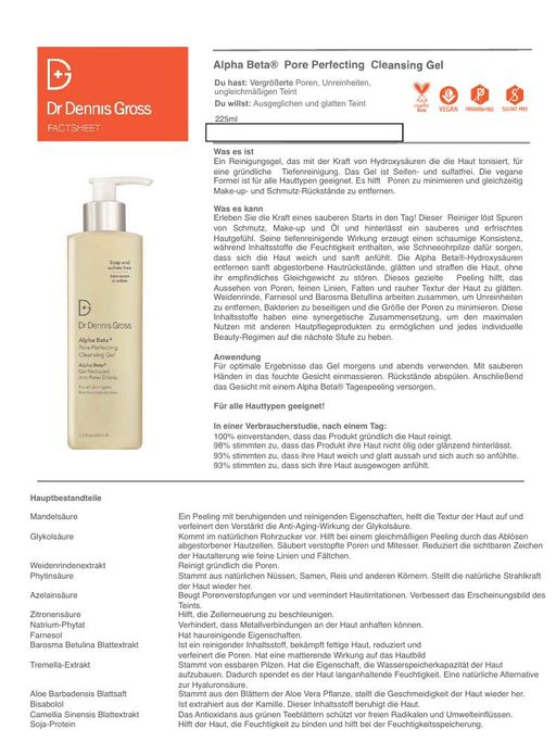DR DENNIS GROSS Alpha Beta Pore Perfecting Cleansing Gel TXT