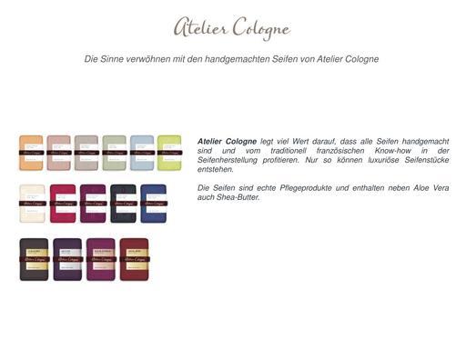 Atelier Cologne Produktübersicht Seifen