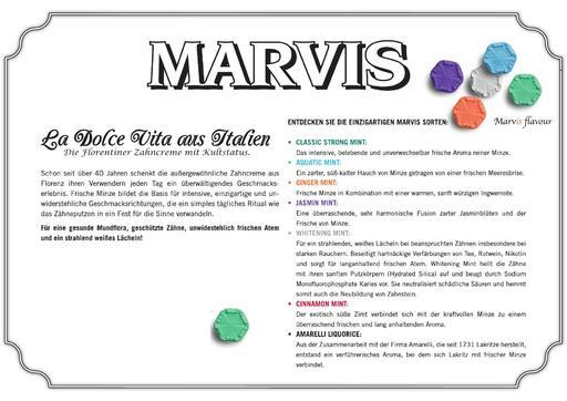 Marvis Produktübersicht