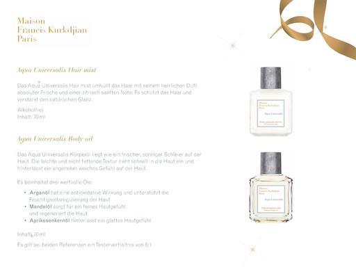 Maison Francis Kurkdjian Aqua Universalis Body Oil Hair Mist