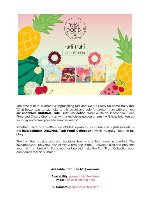 Invisibobble Tutti Frutti TXT