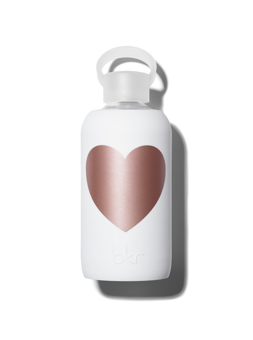 Bkr bottle Winter Metallic Rose Heart 500ml