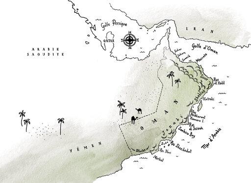 Une Nuit Nomade Oman Illustration