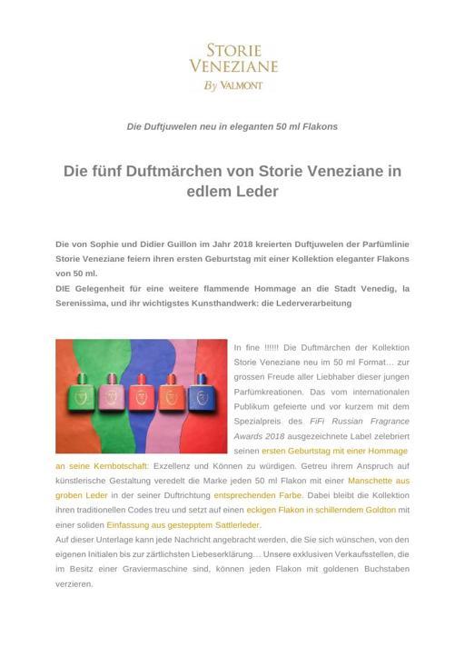 Storie Veneziane by Valmont 50ml TXT