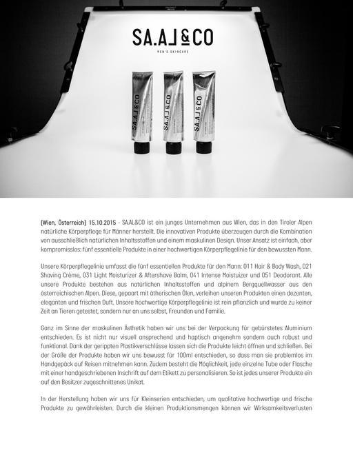 SAAL Skincare Markenbeschreibung