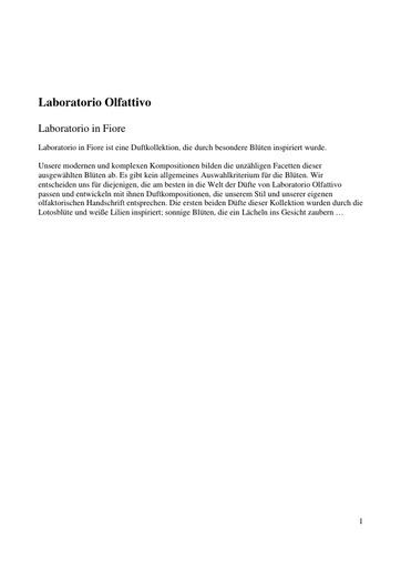 Laboratorio Olfattivo EdP MyLO Nun TXT
