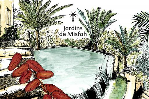 Une Nuit Nomade Jardins de Misfah Illustration