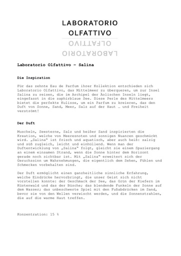 Laboratorio Olfattivo EdP Salina TXT