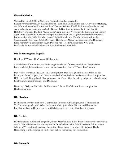 WienerBlut Markenbeschreibung