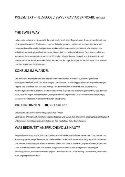 ZwyerCaviar Markenbeschreibung Produktbeschreibung