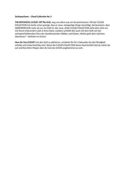 Zarkoperfume Cloud Collection No 3 TXT
