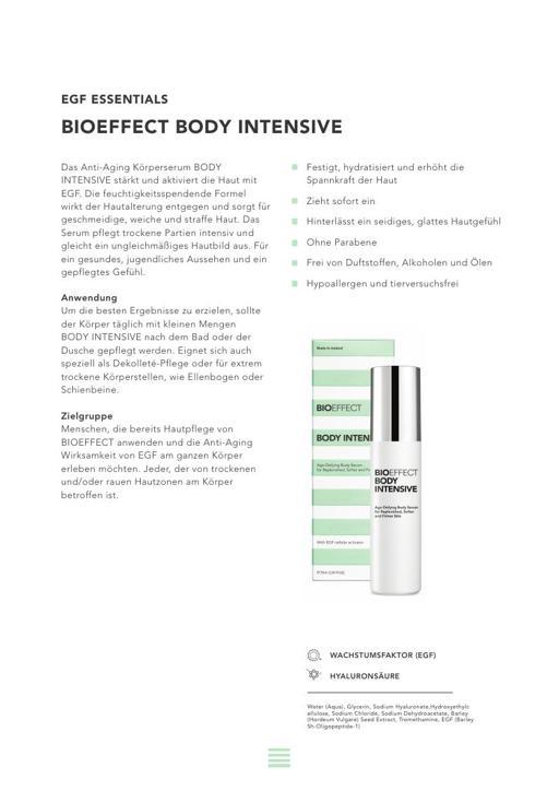 BIOEFFECT BODY INTENSIVE TXT