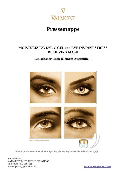 Valmont Eye Instant Stress Relieving Mask & Moisturizing Eye C Gel TXT