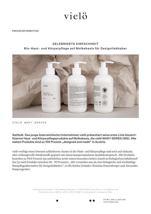 Vielö Markenbeschreibung Produktbeschreibung