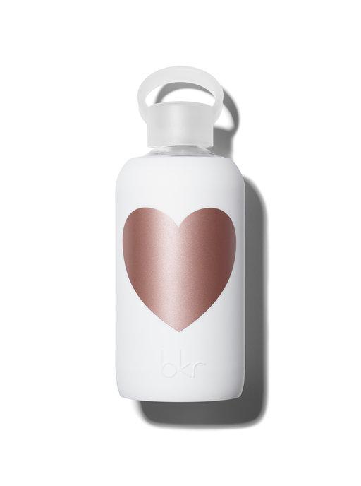 Bkr bottle Winter Metallic Rose Heart 500ml
