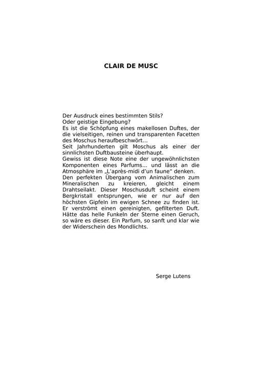 Serge Lutens Clair de Musc TXT