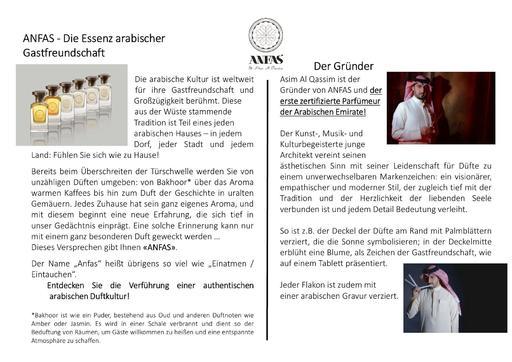 ANFAS Markenbeschreibung