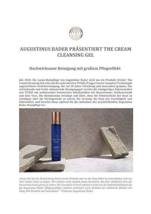 AUGUSTINUS BADER The Cream Cleansing Gel TXT