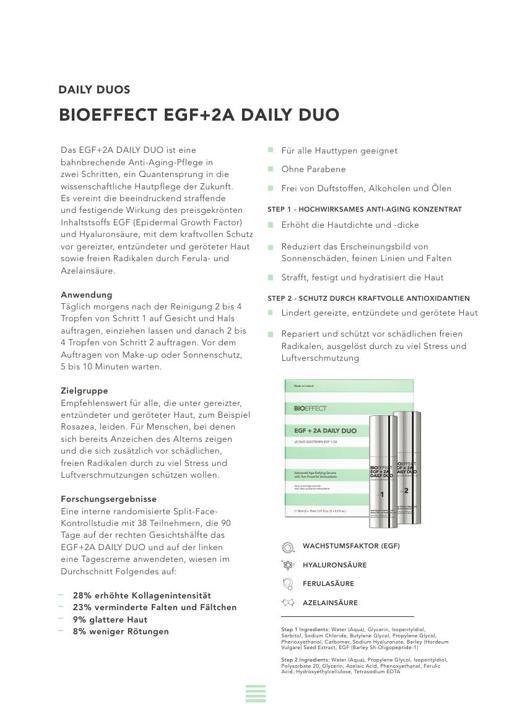 BIOEFFECT EGF + 2A DAILY DUO TXT