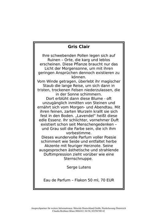 Serge Lutens Gris Clair TXT
