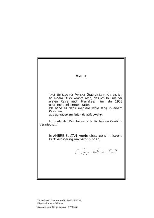 Serge Lutens Ambre Sultan TXT